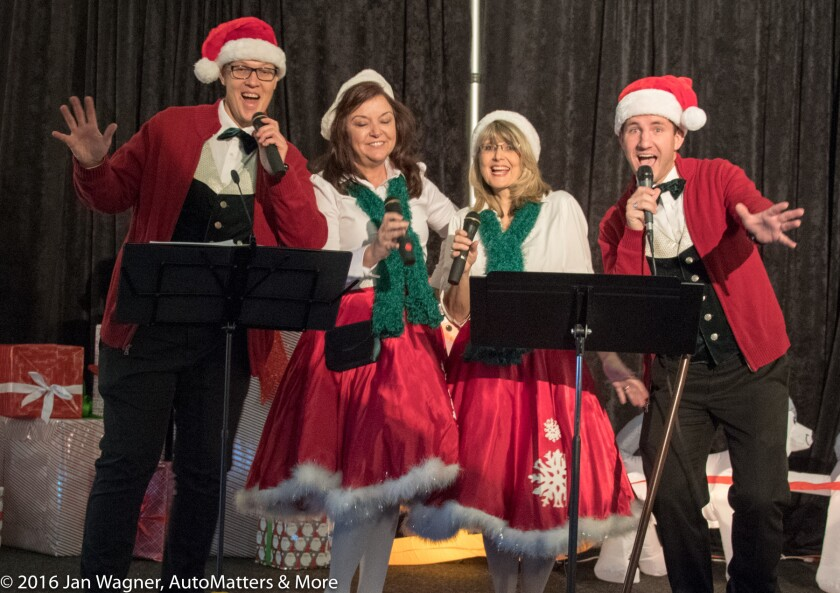Merry carolers at the San Diego Air & Space Museum