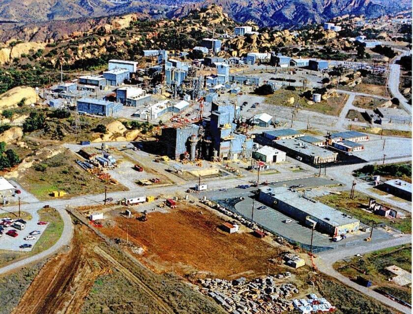 The Santa Susana Field Laboratory site, shown in a 2000 photo.