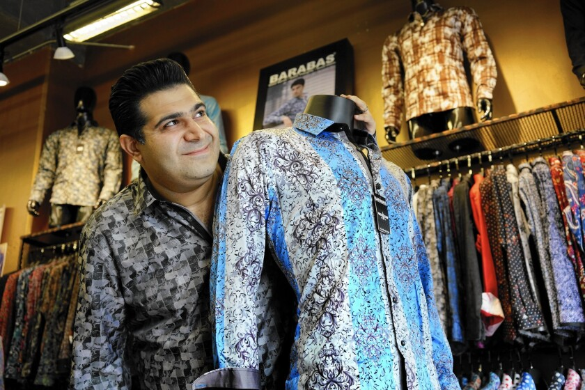 Drug kingpin creates a rush for L.A. clothing firm's shirts