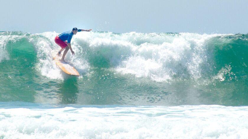 Scott Johnston surfing at La Jolla Shores.