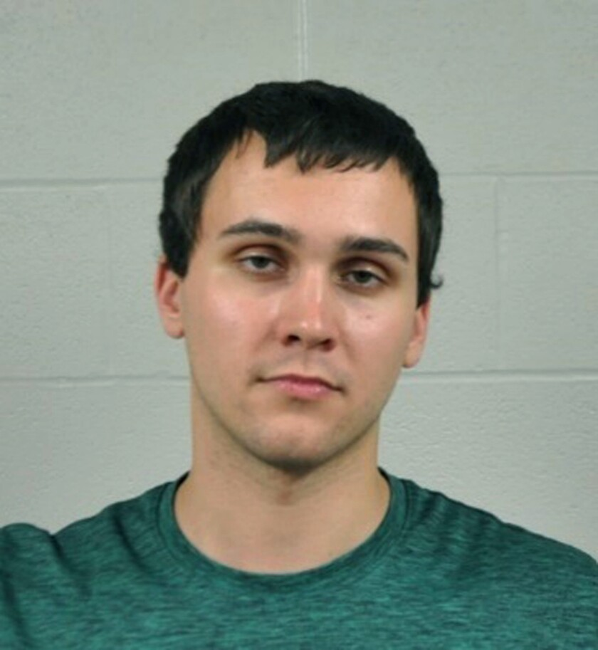 FILE - This undated file photo provided by the University of Maryland Police Department shows Sean Urbanski, charged with first-degree murder and a hate crime in the May 2017 killing of Richard Collins III. Urbanski's former girlfriend, Kim Stringer, wants to be excused from testifying at his murder trial. She says he mistakenly believes that she would testify that he had no racial animus that would motivate him to commit a hate crime. A court filing last week says Stringer doesn't have any relevant testimony that would assist Urbanski's defense. (University of Maryland Police Department via AP, File)