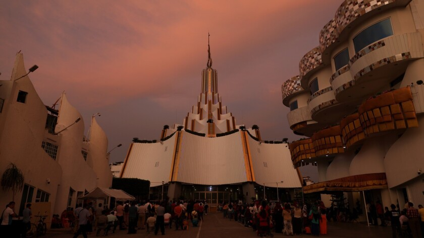 GUADALAJARA, JALISCO -- FRIDAY, JUNE 14, 2019: The Templo Sede Internacional (flagship temple) of La