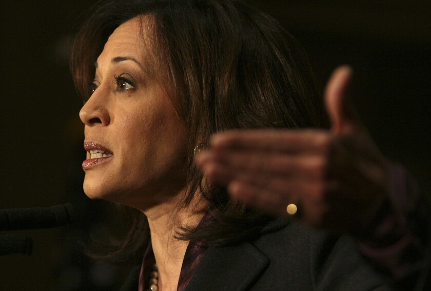 California Atty. Gen. Kamala D. Harris says the truancy rate for elementary school students has reached a crisis level.