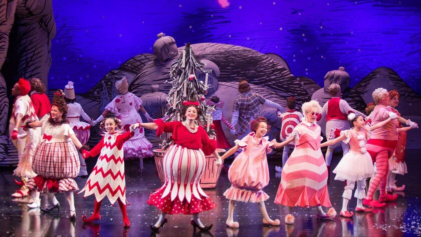 The cast of Dr. Seuss's How the Grinch Stole Christmas!, book and lyrics by Timothy Mason, music by