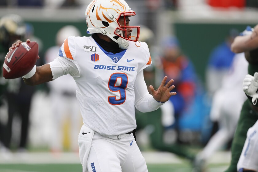 Henderson No 20 Boise State Hang On For 31 24 Win Over Csu The San Diego Union Tribune