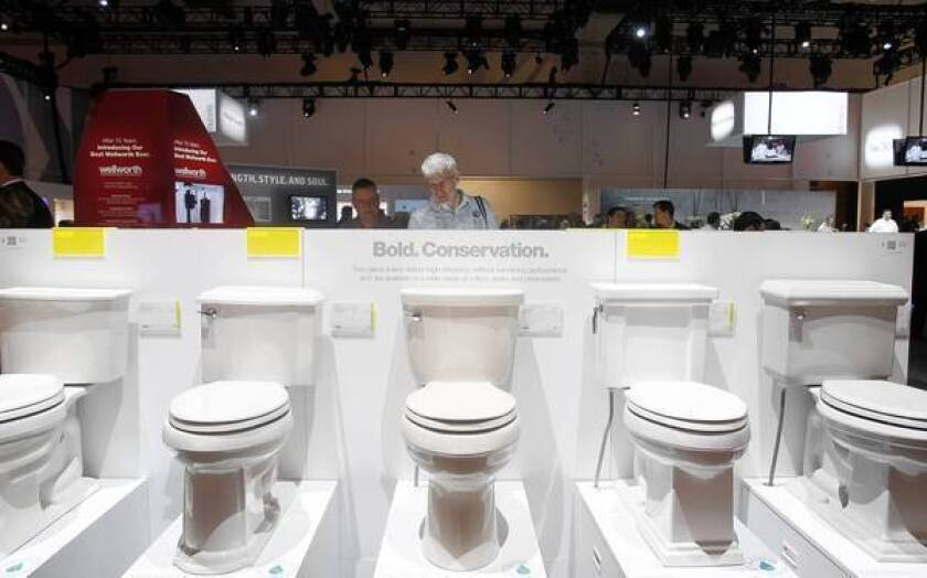 Toilet makers focus on water consumption