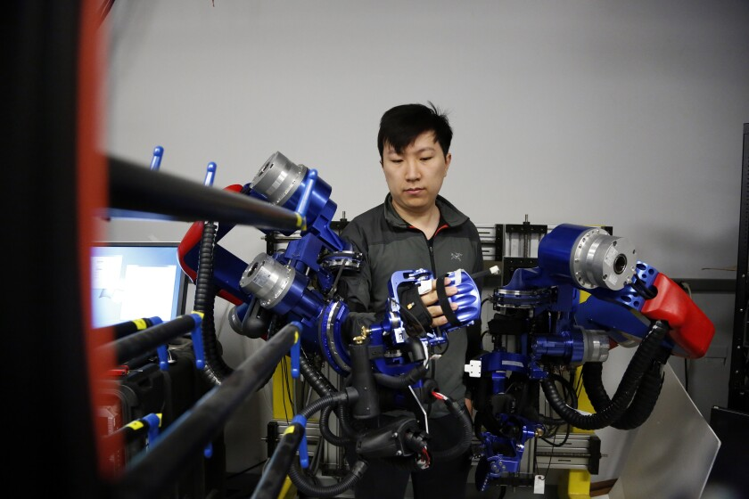 Yang Shen, a Ph D candidate in robotics at UCLA