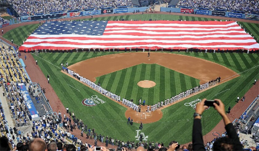 The Dodgers' 2014 home opener will take place on April 4 against the San Francisco Giants.