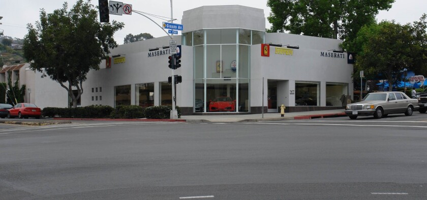 La Jolla's former Maserati dealership at 7477 Girard Ave. is slated to become a Sherwin-Williams paint store later this year.