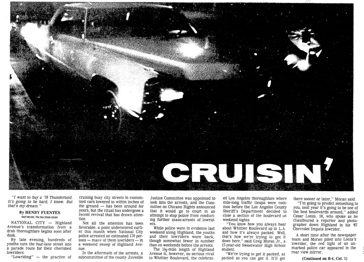 From the Archives: Cruising Highland in 1979