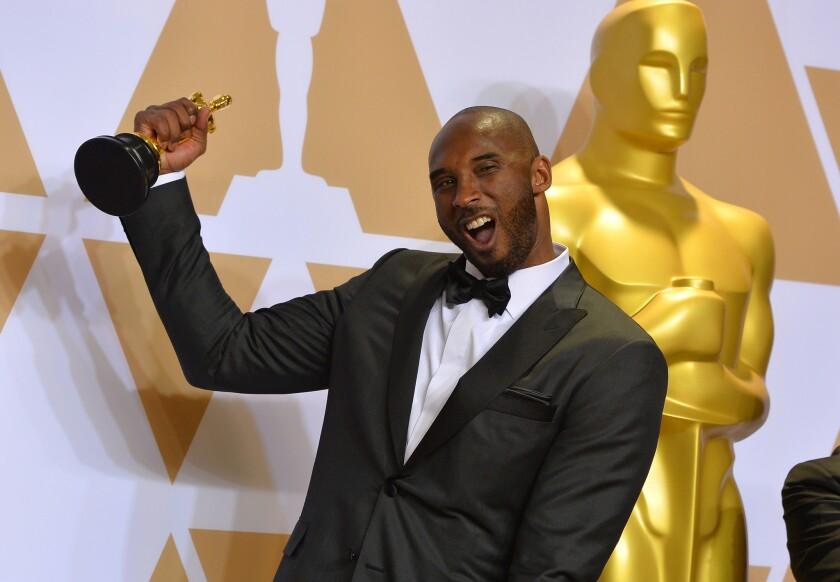 Kobe Bryant winning an Academy Award