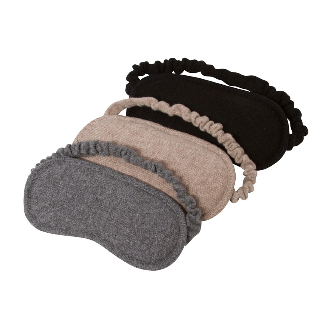 Knitted, pure cashmere eye mask from Naked Cashmere
