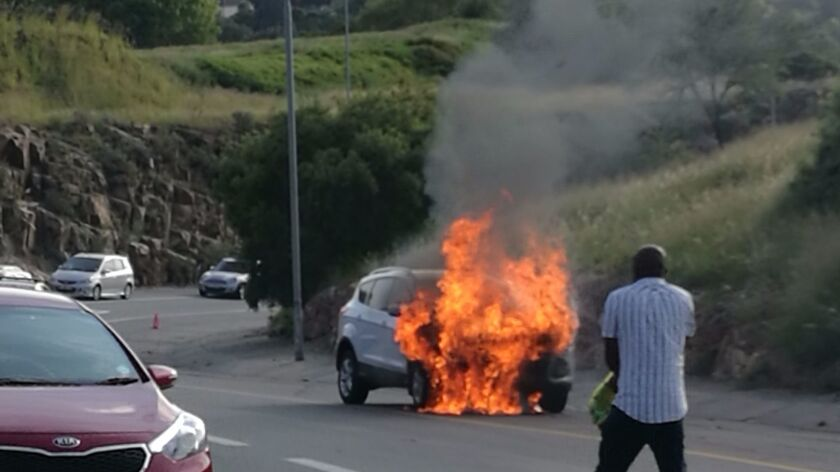 South African Warren Krog was lucky to escape incineration when his 2013 Ford Kuga burst into flames in Johannesburg this month. After dozens of similar fires, Ford South Africa has recalled 4,556 Kugas.