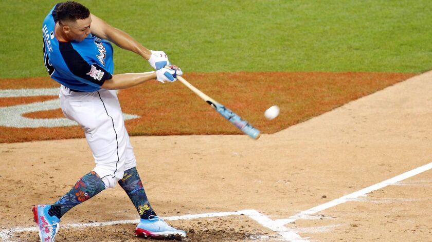 The Home Run Derby, won by New York Yankees rookie Aaron Judge, drew higher TV ratings in the 18-to-49 demographic than baseball's All-Star Game the following day.