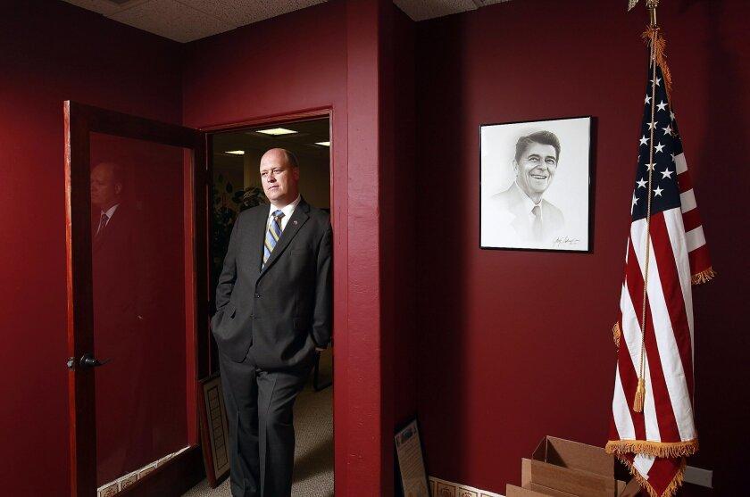 San Diego, CA 7/19/2012_|Tony Krvaric is chairman of the Republican Party of San Diego County and a big Ronald Reagan fan.| John Gastaldo/UT San Diego/Mandatory Credit: JOHN GASTALDO/UT SANDIEGO/ZU