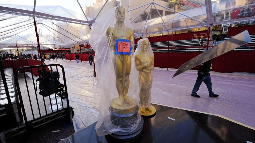 Preparations Continue At Hollywood & Highland For The Academy Awards
