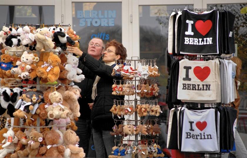 A Berlin souvenir shop.