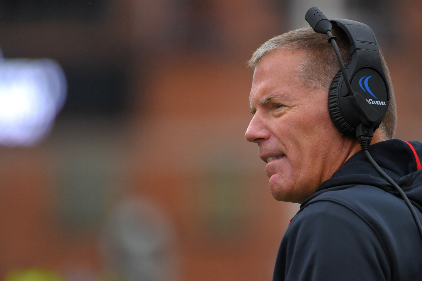 Maryland coach Randy Edsall during the first quarter at Byrd Stadium.