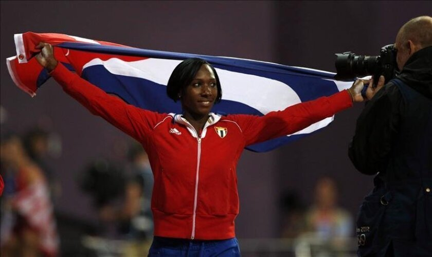 La campeona de salto con pértiga cubana Yarisley Silva. EFE/Archivo