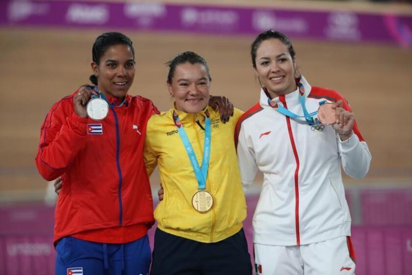 La colombiana Martha Bayona reina en el keirin y atrapa su segunda medalla