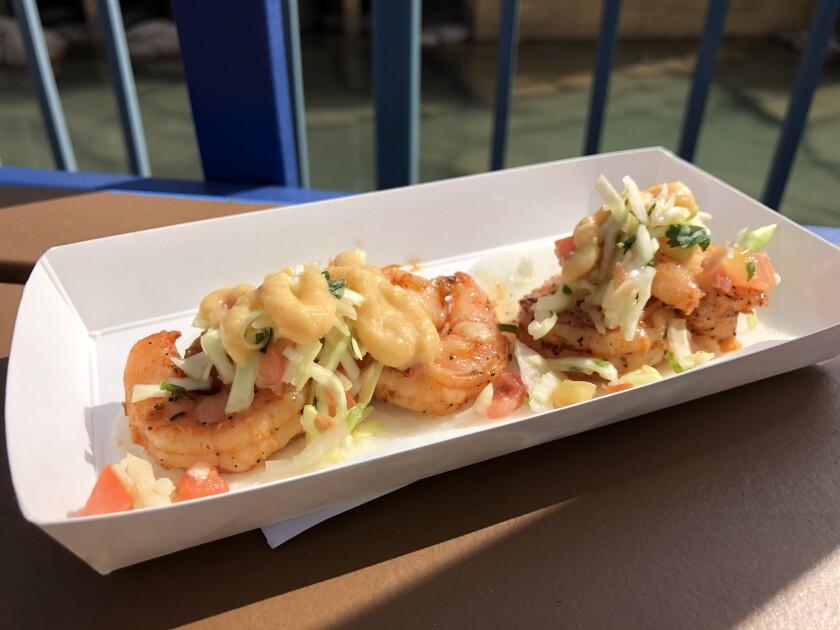 Grilled Shrimp Tacos at the 2020 Disney California Adventure Food & Wine Festival.