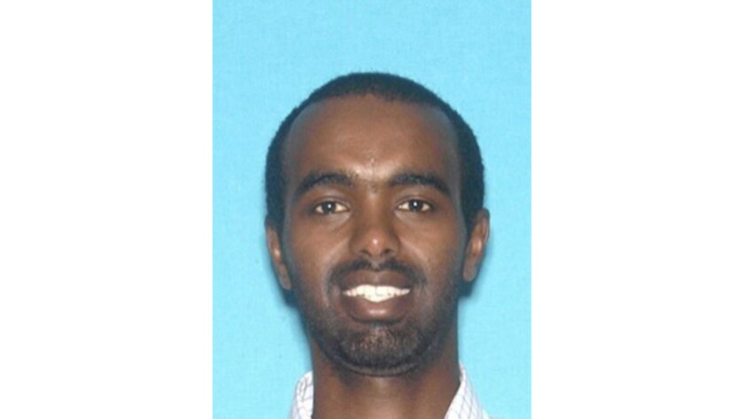Photo of Mohamed Mohamed Abdi who was arrested for asault with deadly weapon with a vehicle.