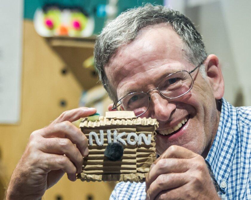 Jan and his hand-crafted Nikon camera at Imaginate