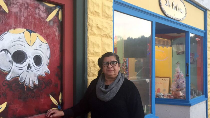 Isabel Z. Quiroz, sells paletas, chili-laced Mexican candy and chips. Aside from the local Catholic Church, the store has arguably become the center of Latino life in Weed.