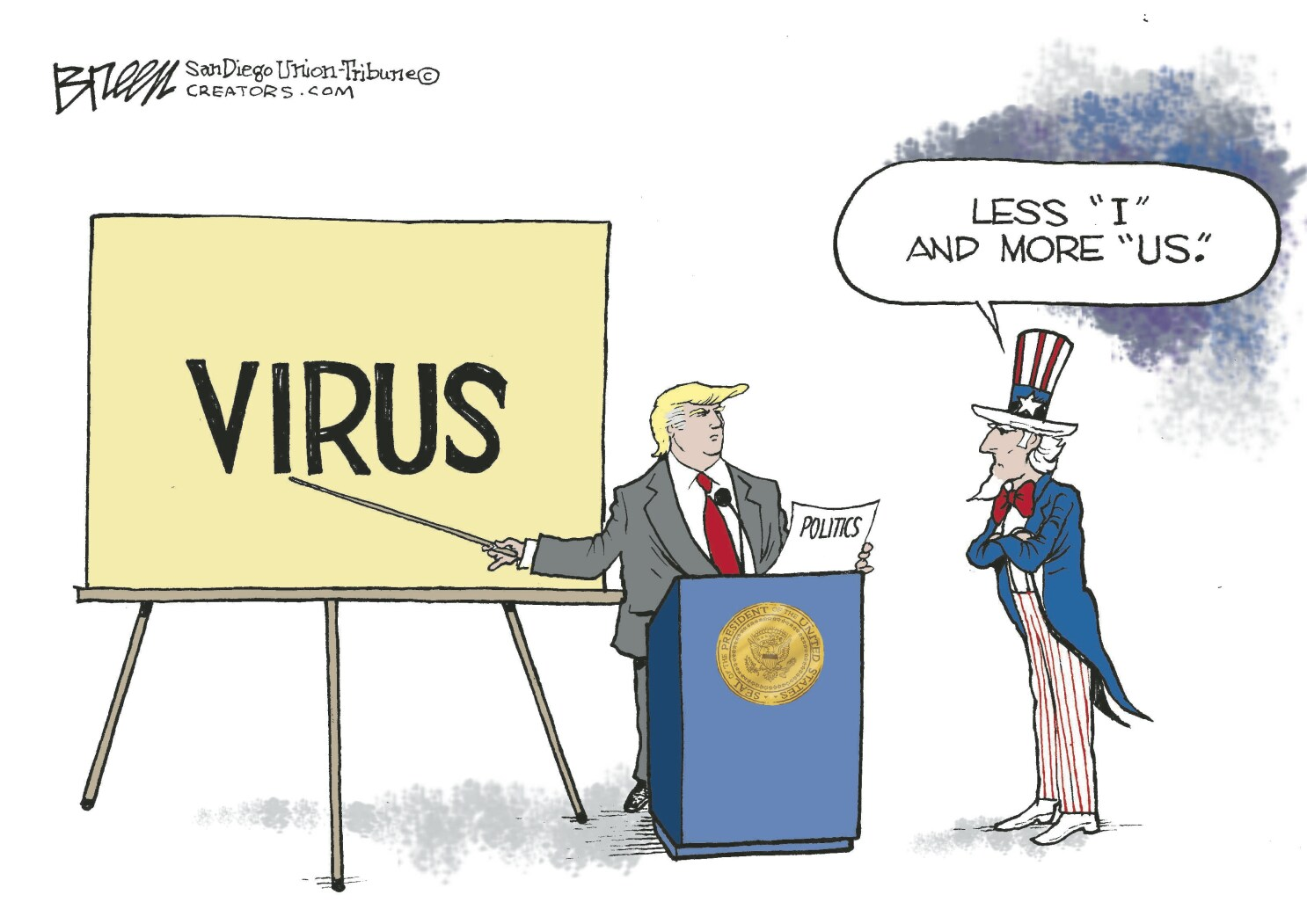 Trump's coronavirus press conference less than inspiring - The San Diego  Union-Tribune