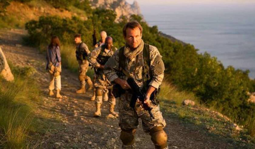 """Christian Slater in """"Soldiers of Fortune."""""""