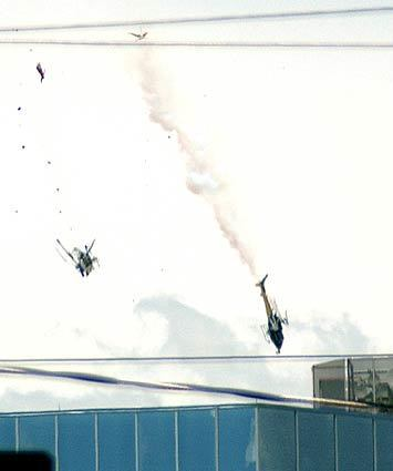 Helicopters collide
