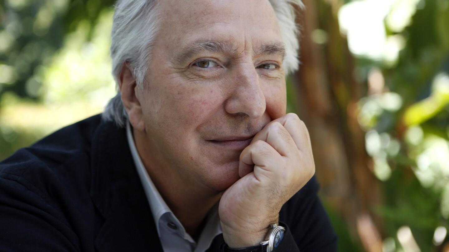 British actor Alan Rickman is photographed at the Sunset Marquis in West Hollywood on June 22, 2015.