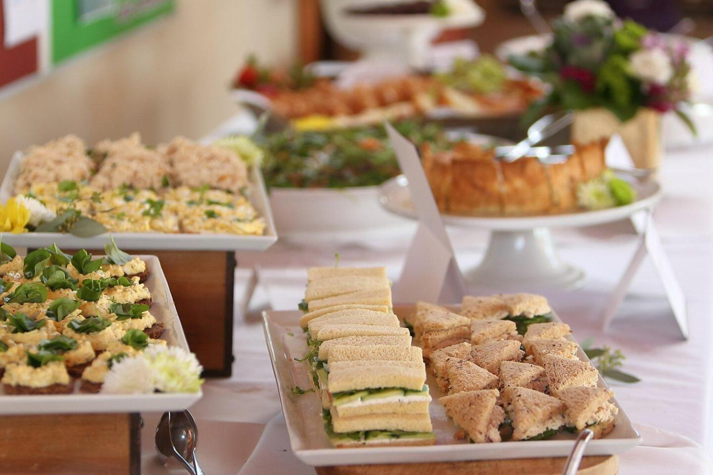 The Wimbledon Whites event included a delicious buffet lunch from 'Something Homemade'