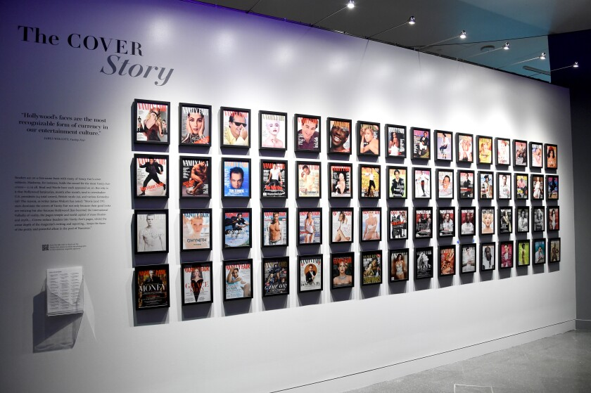 An installation view of the Vanity Fair show at the Annenberg Space for Photography early in February
