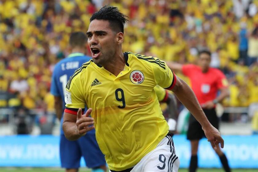 En la imagen, el jugador de Colombia Radamel Falcao García. EFE/Archivo