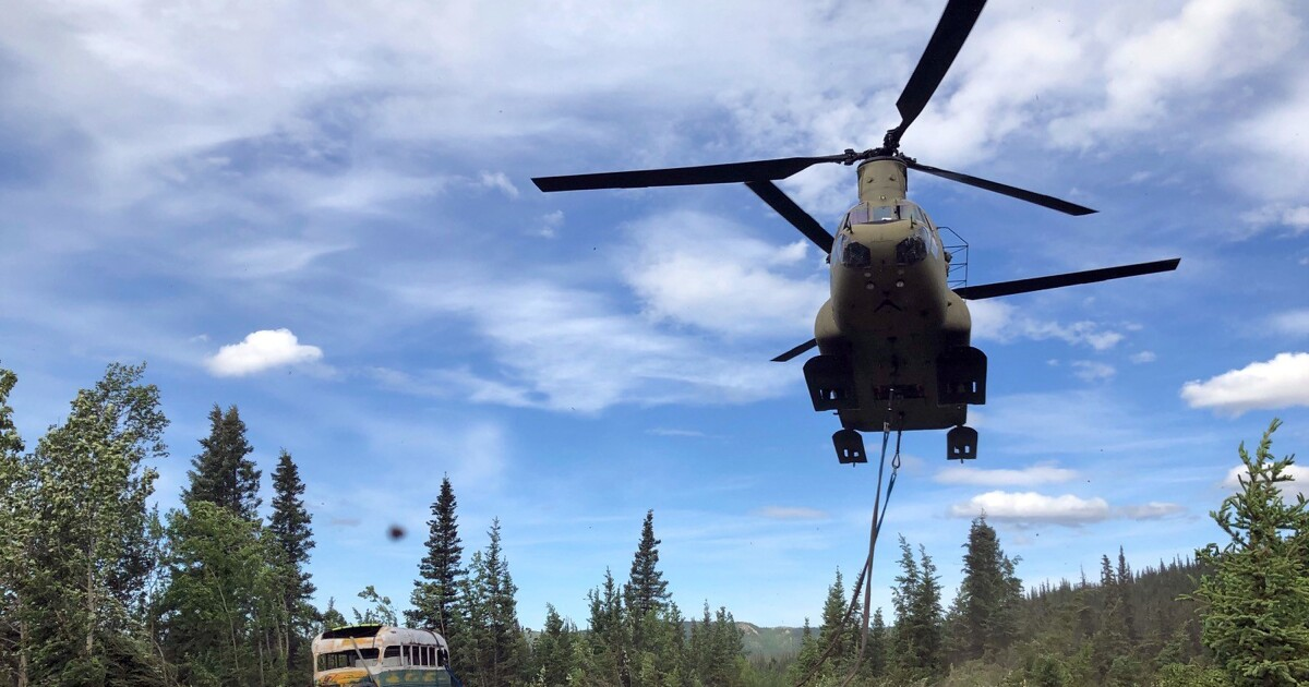 Bus made famous by 'Into the Wild' is removed from Alaskan wilderness