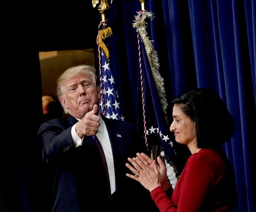 President Trump, Medicaid administrator Seema Verma