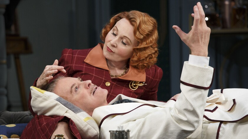 "Kevin Kline and Kate Burton in ""Great Performances: Noel Coward's 'Present Laughter'"""