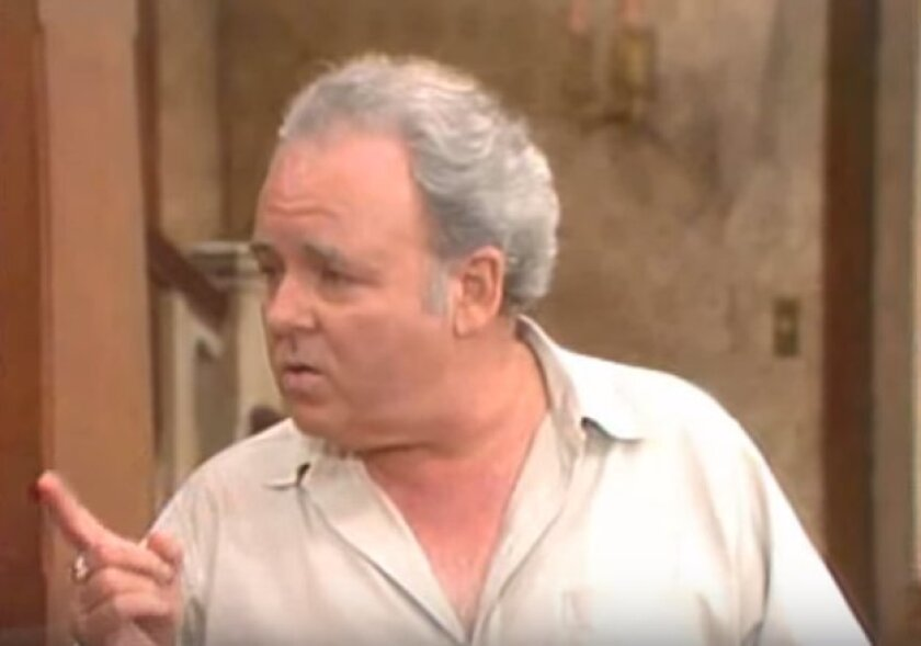"Carroll O'Connor as Archie Bunker on ""All in the Family."""