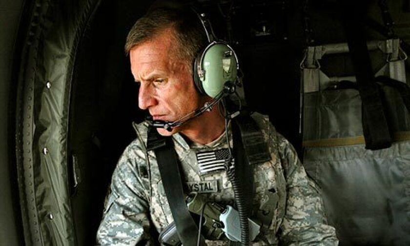 As top commander of U.S. military operations in Afghanistan, Gen. Stanley McChrystal spends several days a week visiting military outposts across the country and meeting with local Afghan officials.