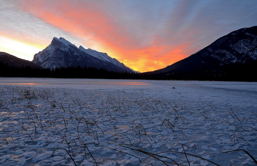 Canada invites all to visit its national parks for free in 2017. Here's one worth seeing: Mt. Rundle from Vermillion Lakes in Banff National Park.