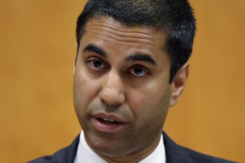 FCC Commissioner Ajit Pai, seen last August, criticized the notice from the FCC's Mass Media Bureau.