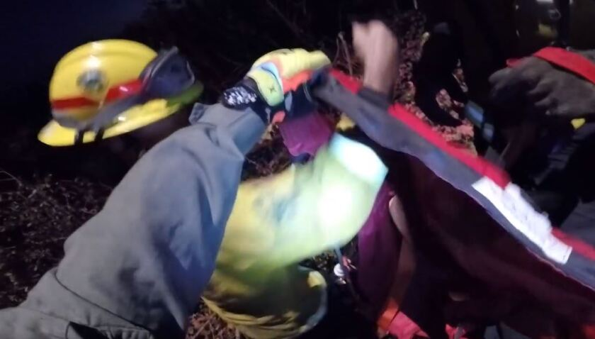 Firefighters are rescued in Marin County.