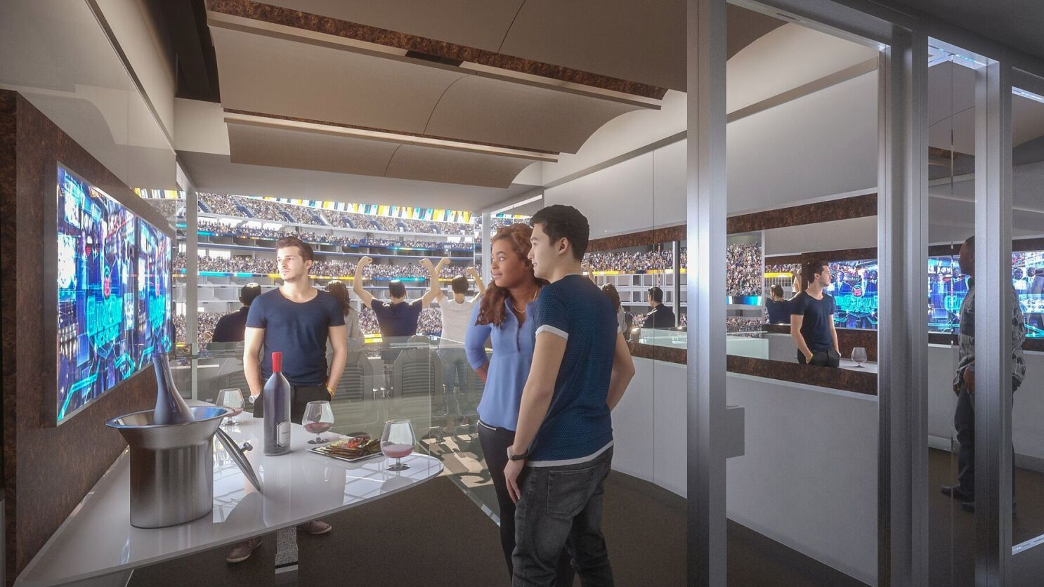 f3050464 Inglewood stadium developers hope suites will transform NFL game day ...