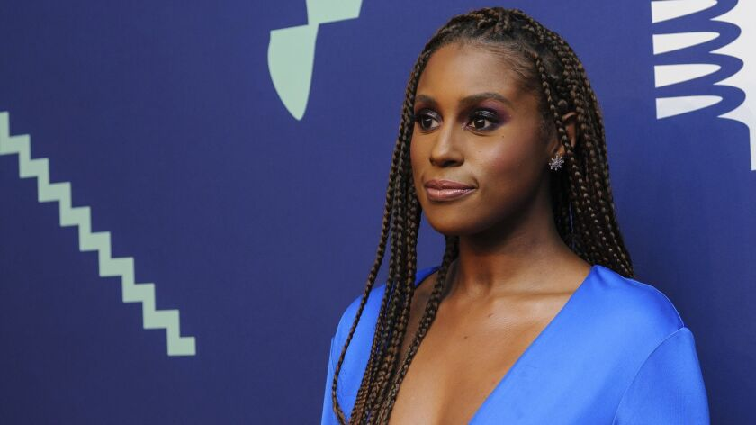 Issa Rae attends the 23rd annual Webby Awards at Cipriani Wall Street on Monday, May 13, 2019, in Ne