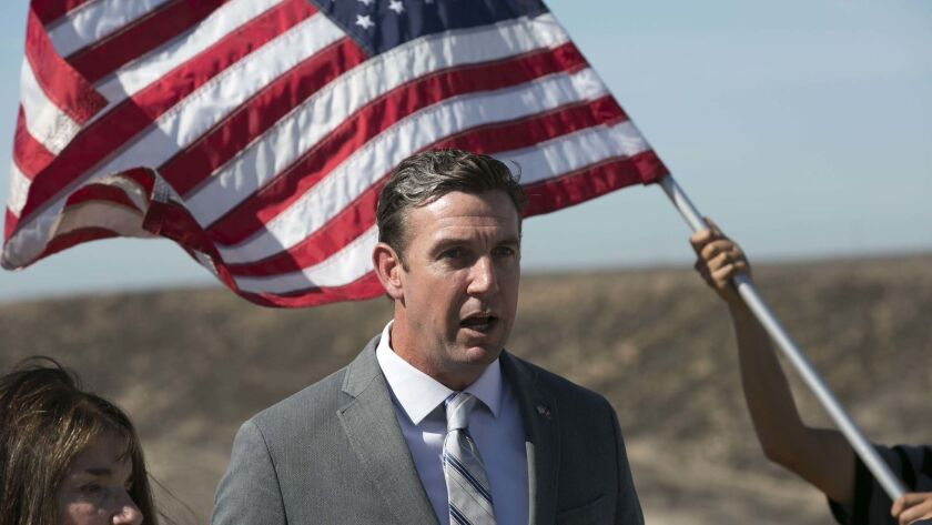 Congressman Duncan Hunter Jr. held a press conference Thursday to call on President Donald Trump to use the troops that are coming to the border to construct another road along the border so Border Patrol agents can have faster access along the fence.
