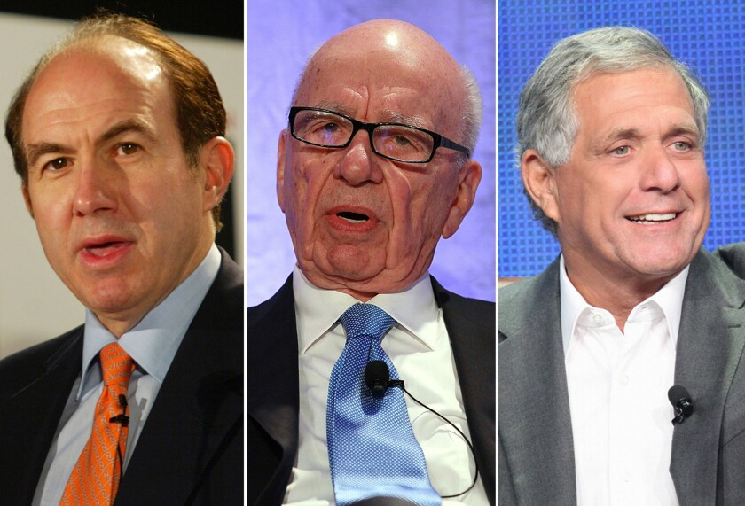 For top media moguls, base salaries are high. Bonuses, stock options and stock awards are higher. See how a group of elite executives fared in 2013. By Christy Khoshaba
