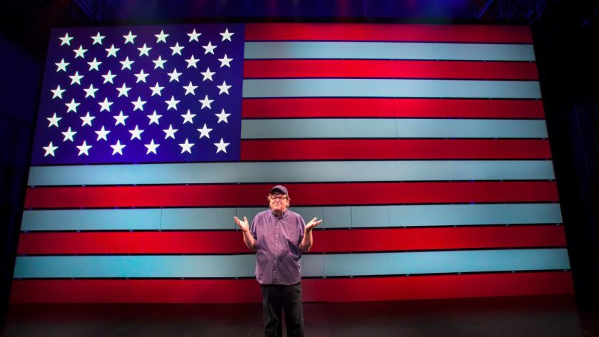 """Michael Moore in """"The Terms of My Surrender"""" at the Belasco Theatre"""