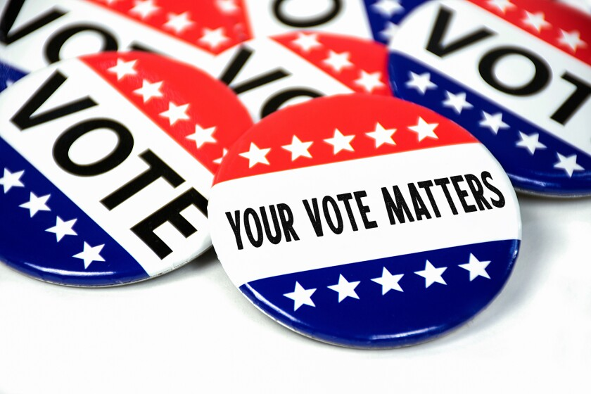 election vote matters buttons