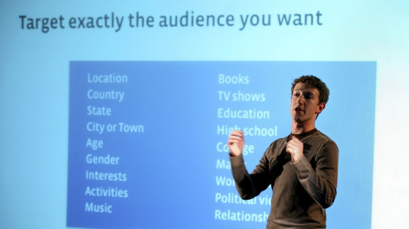 Facebook CEO and founder Mark Zuckerberg speaks to press and advertising partners at a Facebook anno